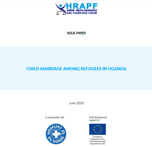 Issue Paper on Child Marriage among Refugees in Uganda