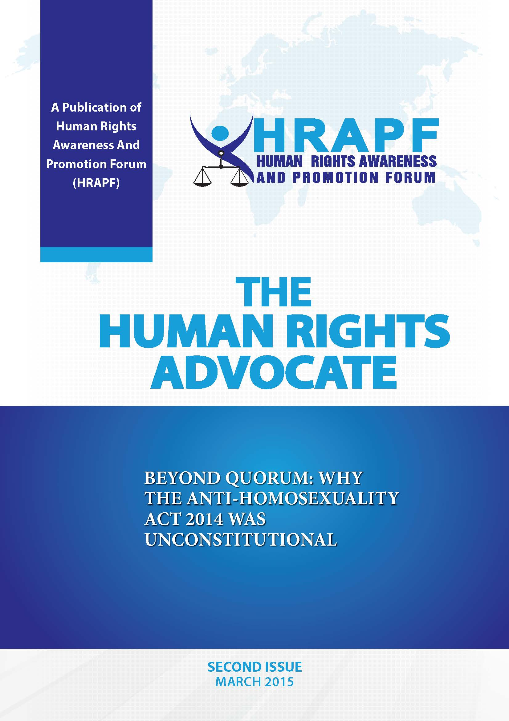 SECOND ISSUE OF THE HUMAN RIGHTS ADVOCATE
