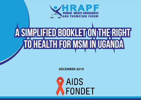A Simplified booklet on The Right to Health for MSM in Uganda