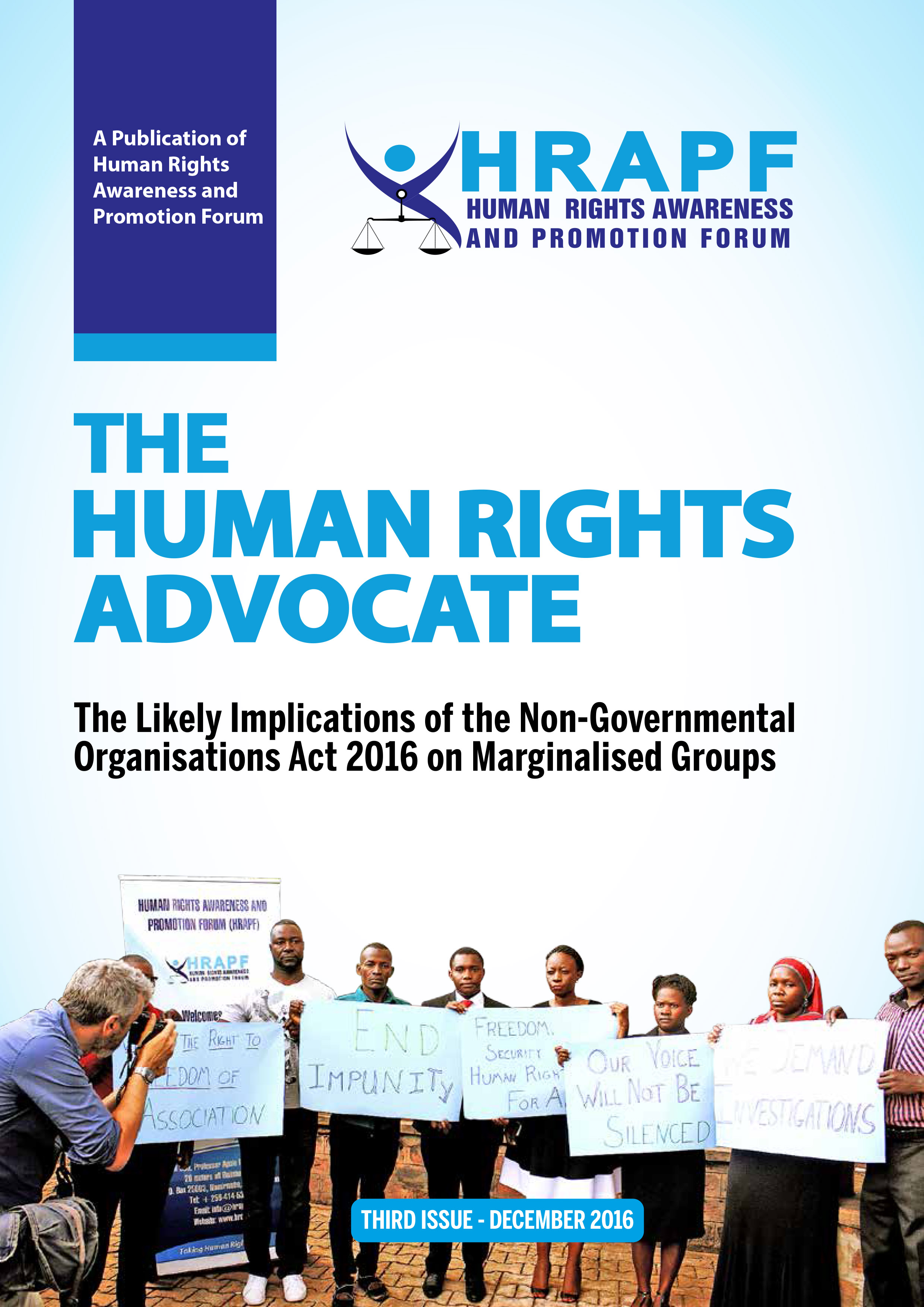 THIRD ISSUE OF THE HUMAN RIGHTS ADVOCATE