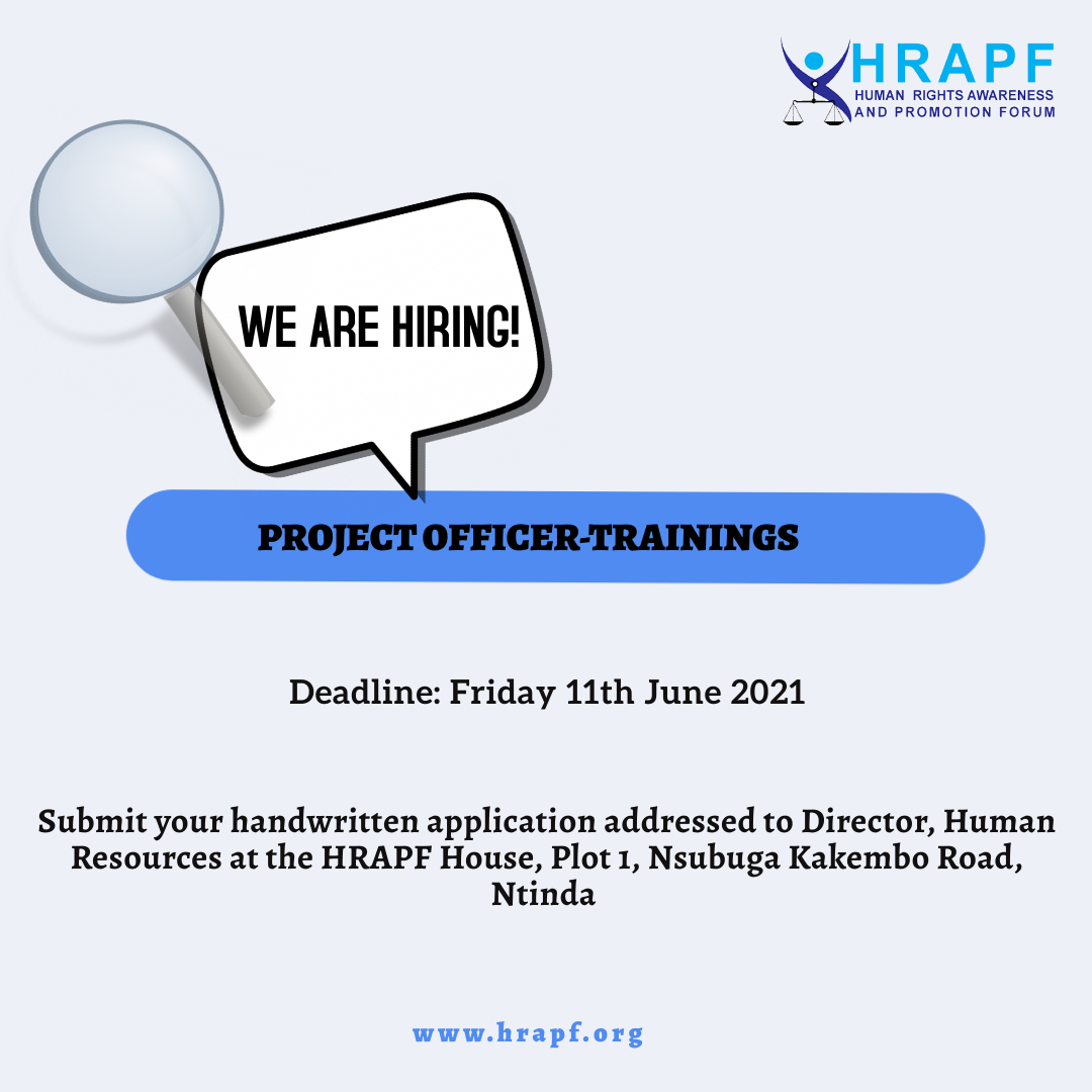 JOB OPPORTUNITY: Project Officer-Trainings